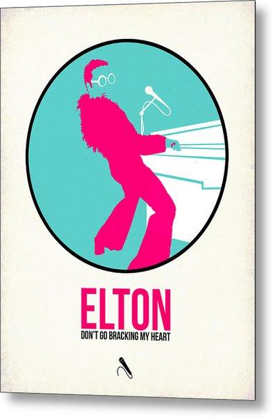 Elton Poster  Metal Print