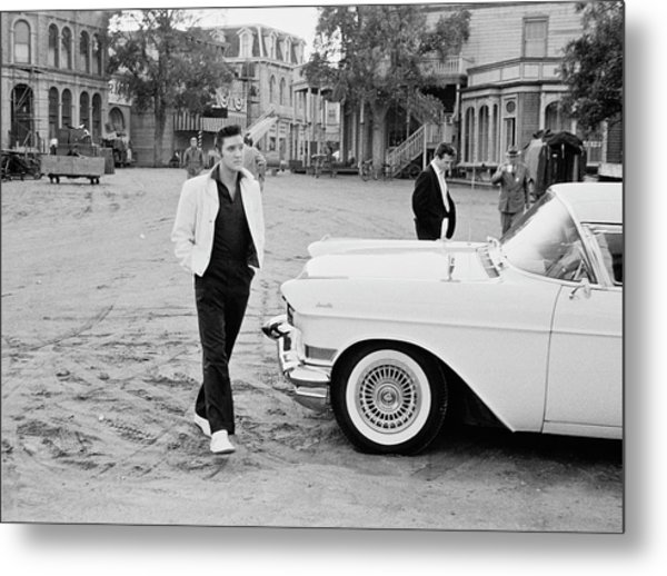 Elvis On Set Metal Print by Archive Photos
