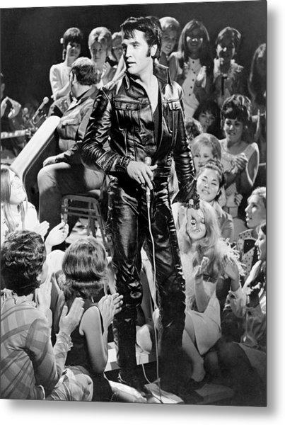 Elvis Presley 68 Comeback Special Metal Print