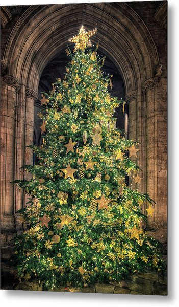 Ely Cathedral Christmas Tree 2018 Metal Print