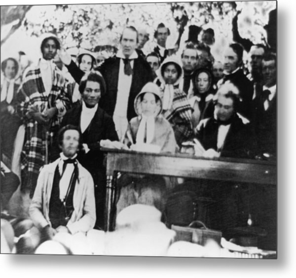Emancipation Meeting Metal Print by Fotosearch
