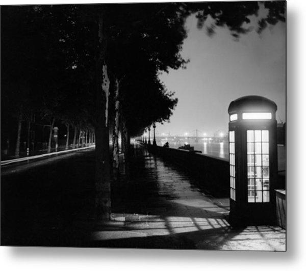 Embankment At Night Metal Print