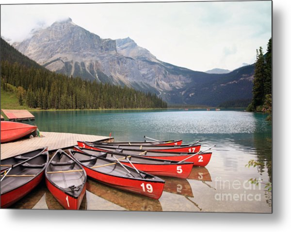 Emerald Lake Is One Of The Most Admired Metal Print