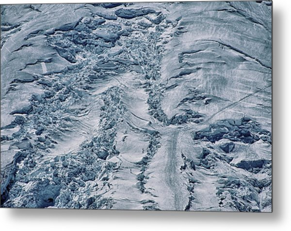 Emmons Glacier On Mount Rainier Metal Print