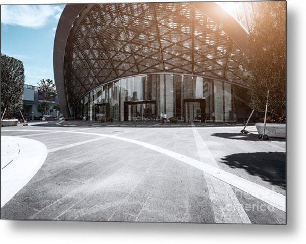 Empty, Modern Square And Museum In Metal Print