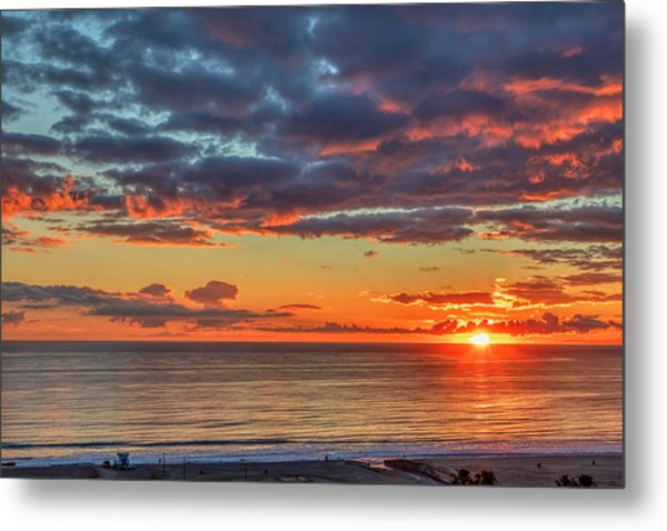 End Of Day Light Show Metal Print