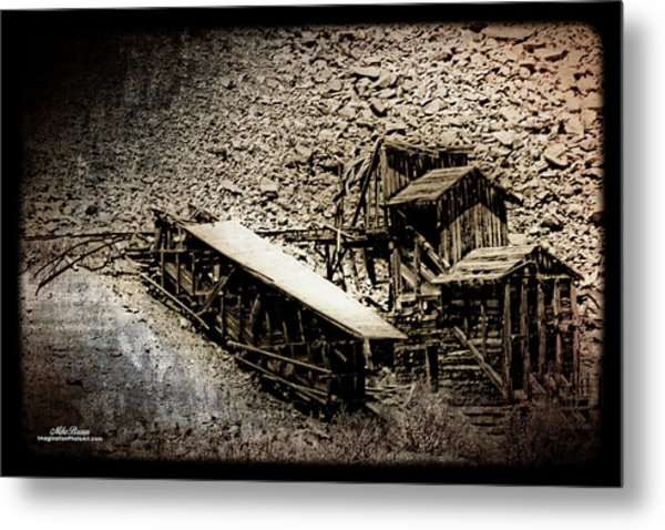 End Of The Line Mine Metal Print