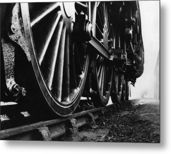 Engine Wheels Metal Print by Fox Photos