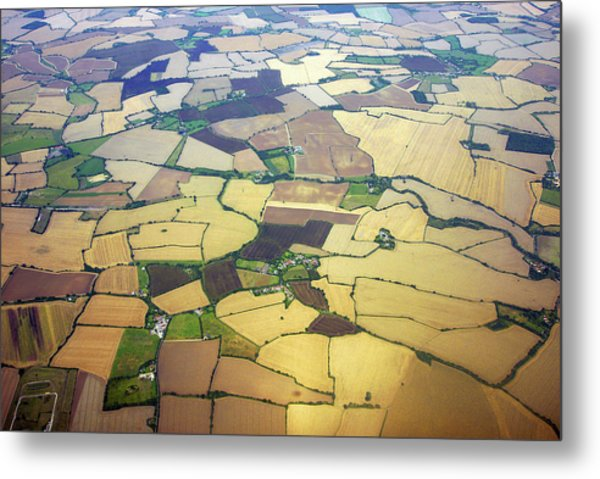 English Countryside Aerial View Metal Print by Rosmarie Wirz