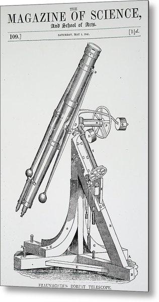 Engraving Depicting A Refracting Metal Print