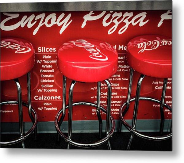 Enjoy Pizza And A Coke Metal Print