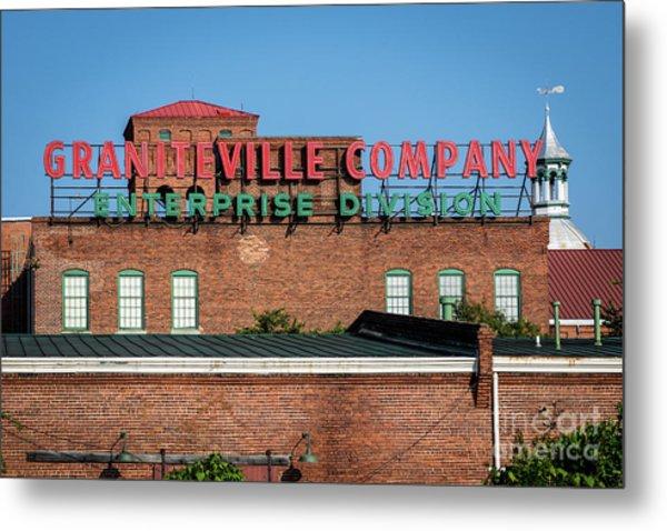 Enterprise Mill - Graniteville Company - Augusta Ga 1 Metal Print