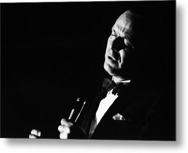 Entertainer Frank Sinatra Singing Metal Print