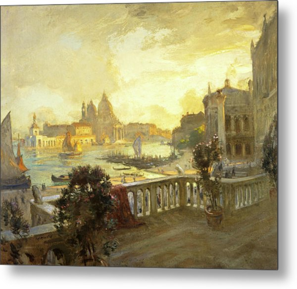 Entrance To The Grand Canal, Venice, 1912 Metal Print