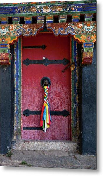 Entrance To The Tibetan Monastery Metal Print by Hanhanpeggy