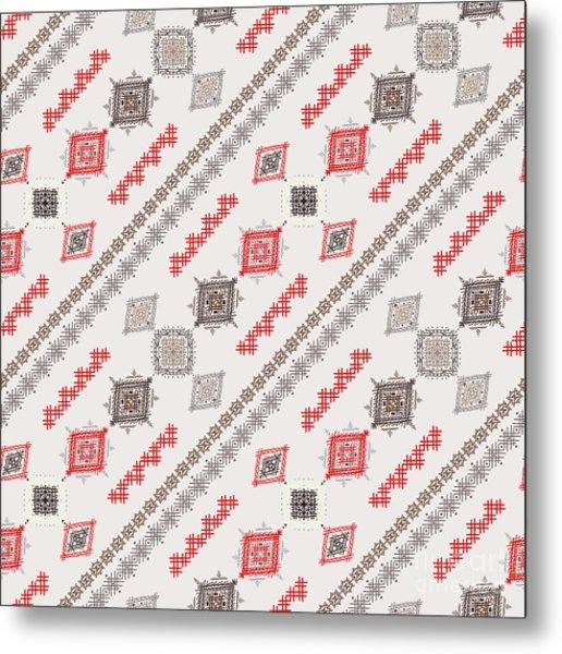 Ethno Seamless Pattern. Ethnic Boho Metal Print
