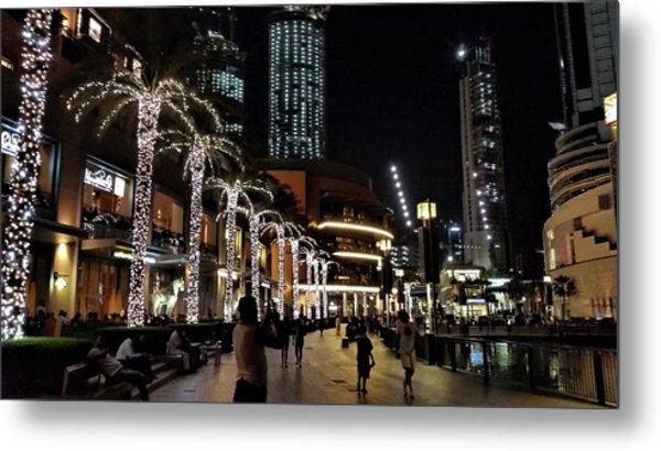 Evening At Dubai Maill, Dubai, United Arab Emirates Metal Print