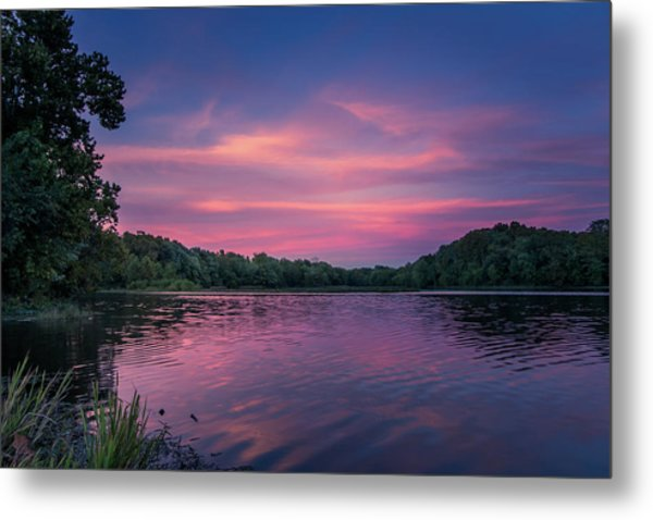 Evening At Springfield Lake Metal Print
