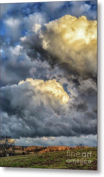 Evening Storm Clouds Metal Print