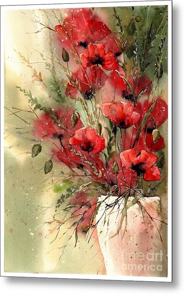 Everything About Poppies I Metal Print