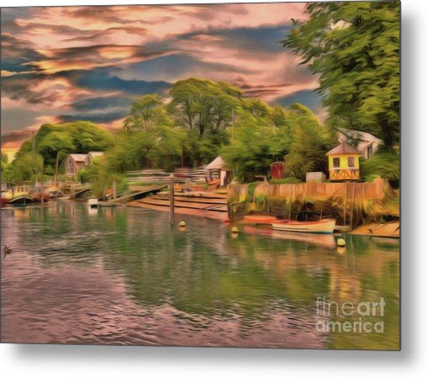 Metal Print featuring the photograph Everything That I Love About The River by Leigh Kemp