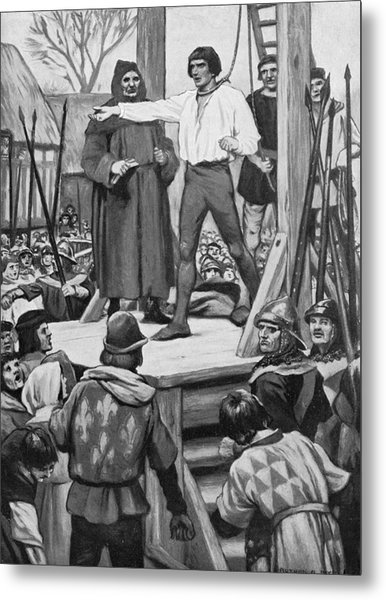 Execution Of Warbeck Metal Print by Hulton Archive