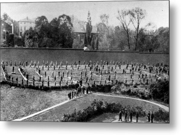Exercising Prisoners Metal Print by Hulton Archive