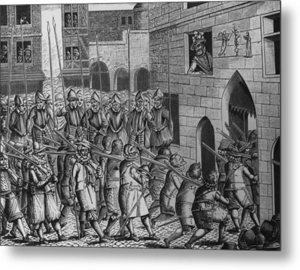 Exit Of Spaniards Metal Print by Hulton Archive