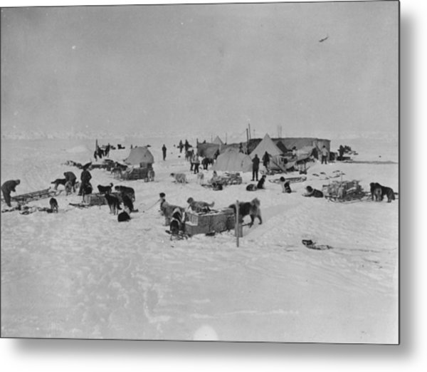 Expedition Camp Metal Print by Hulton Archive