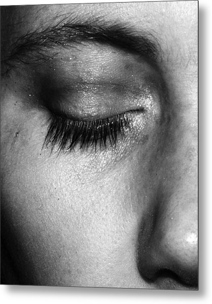Metal Print featuring the photograph Eye, Closed  by Edward Lee