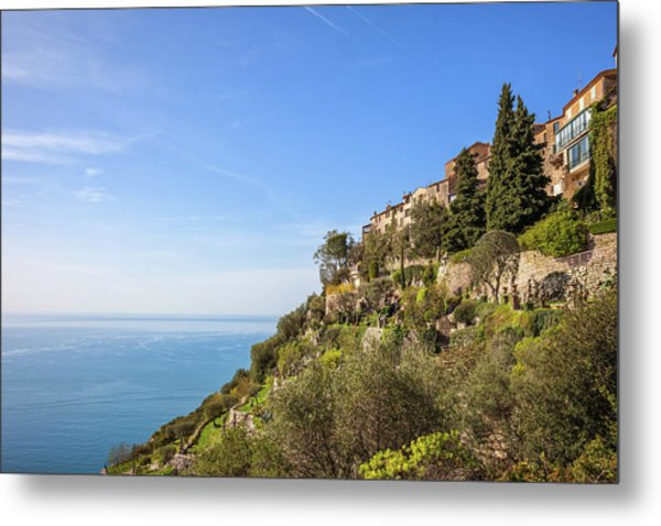 Eze Village At French Riviera In France Metal Print