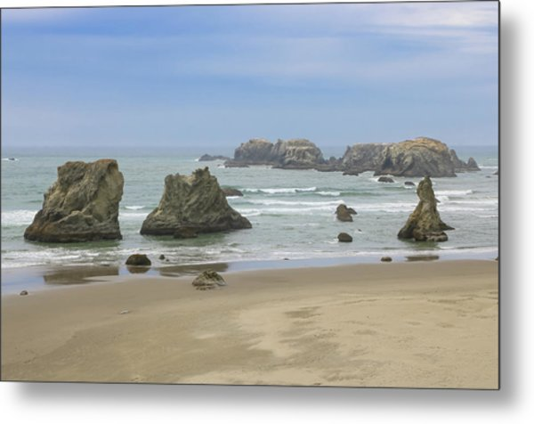 Metal Print featuring the photograph Face Rock Trail, Bandon Beach, Oregon by Dawn Richards