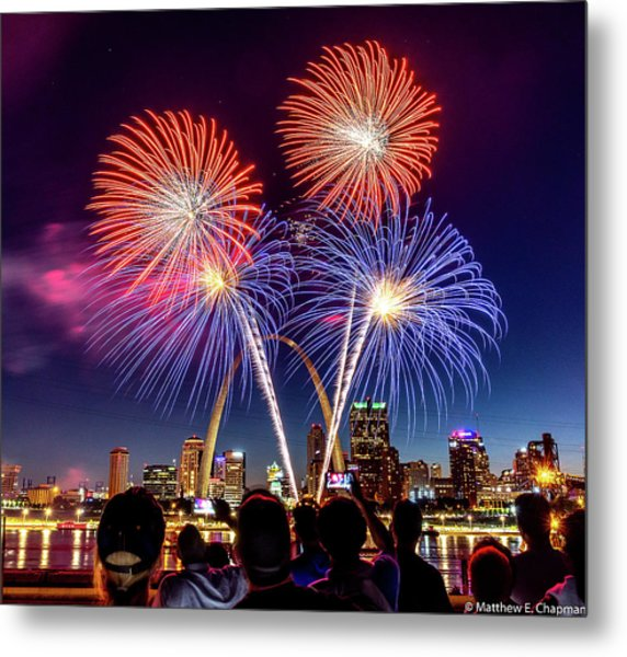 Fair St. Louis Fireworks 6 Metal Print