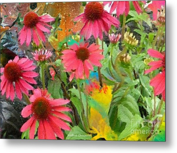 Fairy Among The Flowers Metal Print