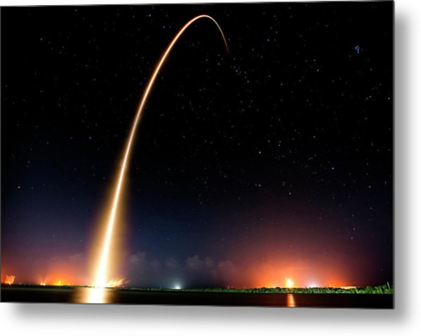 Falcon 9 Rocket Launch Outer Space Image Metal Print
