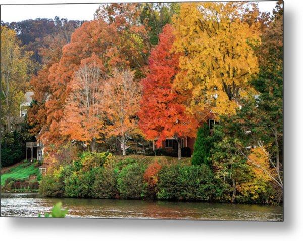 Fall At The Lake Metal Print