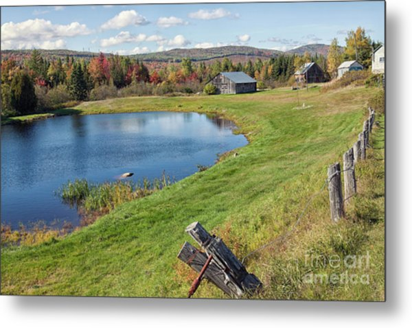 Metal Print featuring the photograph Fall Colors In Port Au Persil by Tatiana Travelways