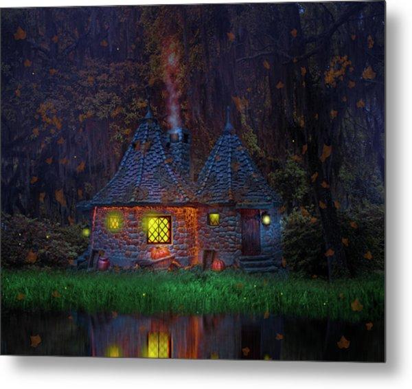 Fall Cottage Metal Print