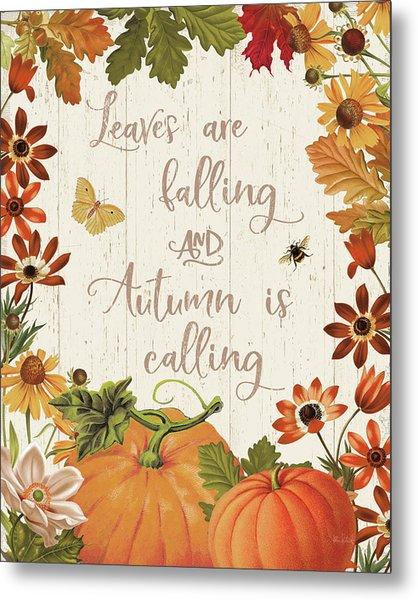 Fall Garden IIi V2 Metal Print by Katie Pertiet