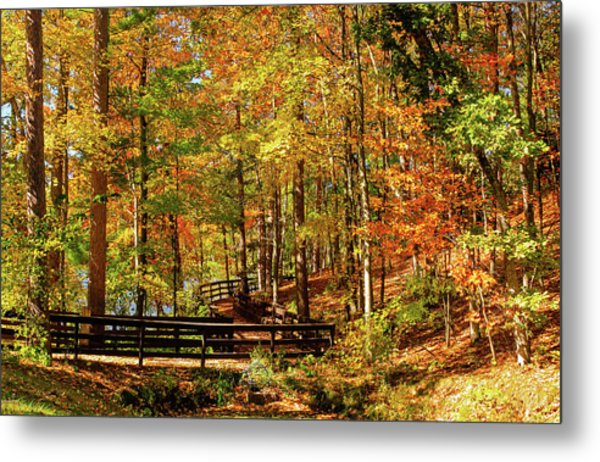 Metal Print featuring the photograph Fall Hike At Mirror Lake by Dawn Richards