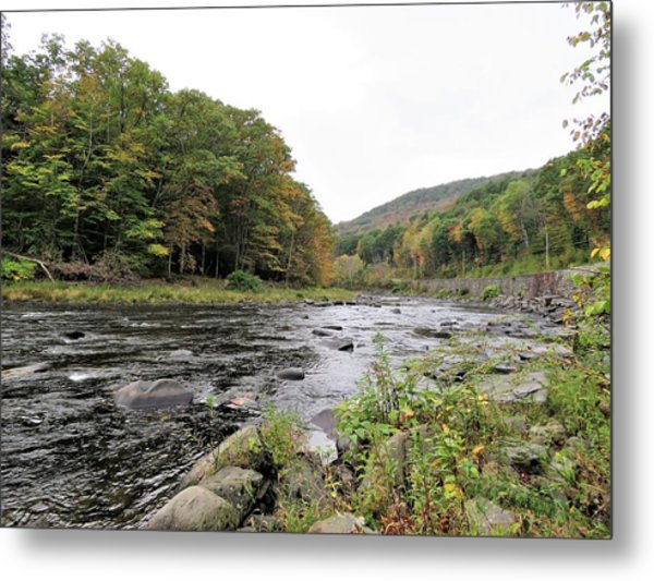 Fall In The Beaverkill Valley Metal Print