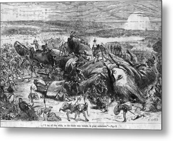 Fallen Giant Metal Print by Hulton Archive