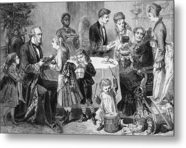 Family Christmas Metal Print by Hulton Archive