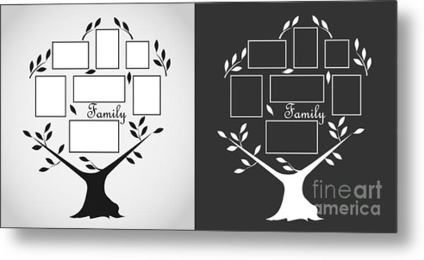 Family Tree, Family Tree Icon. Flat Metal Print