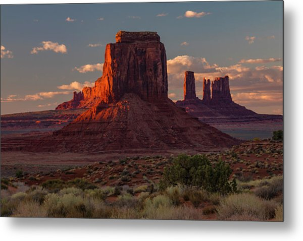 Famous Buttes Of Monument Valley Metal Print by Adam Jones