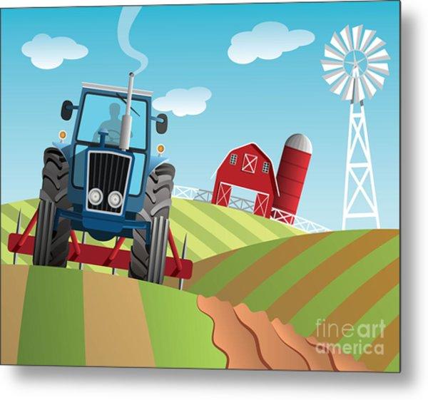 Farm Background Metal Print