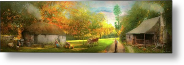 Metal Print featuring the photograph Farm - End Of A Long Day by Mike Savad - Abbie Shores
