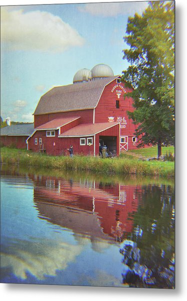 Farm Reflection Metal Print by JAMART Photography