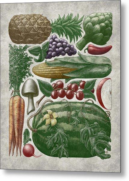 Farmer's Market - Color Metal Print