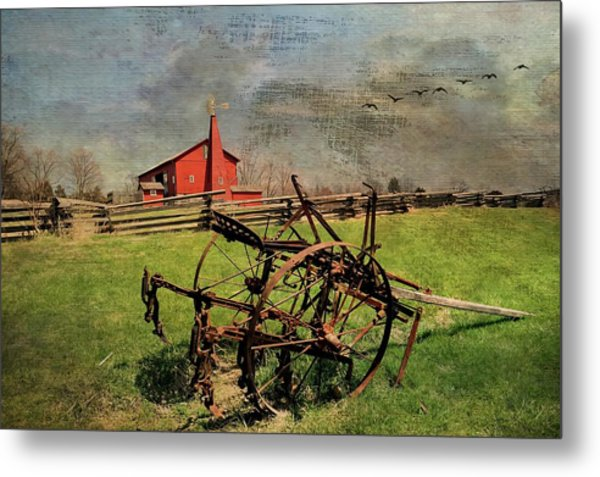Farming In The 1880s Metal Print